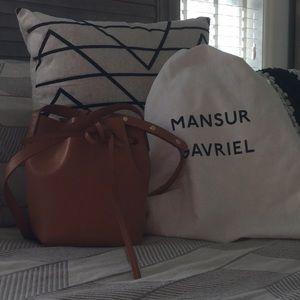 Mansur Gavriel bucket bag mini mini -Cammello Rosa